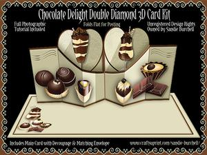 Chocolate Delight Double Diamond 3D Card Kit