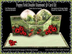 Poppy Field Double Diamond 3D Card Kit