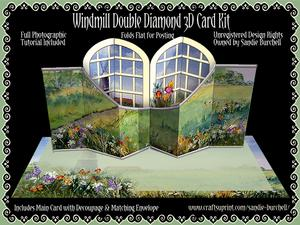 Windmill Double Diamond 3D Card Kit