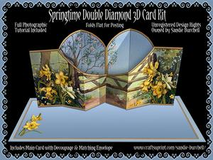 Springtime Double Diamond 3D Card Kit