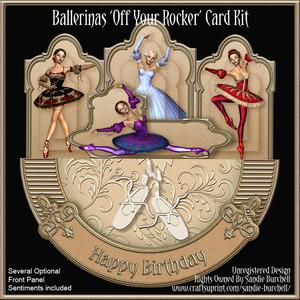 Ballerinas 'off Your Rocker' Card Kit