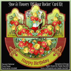 Shoe & Flowers 'off Your Rocker' Card Kit