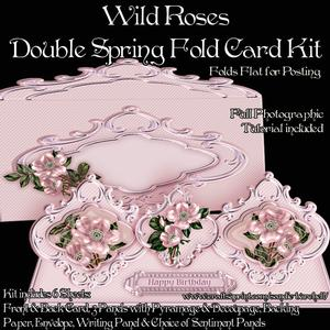 Wild Roses Double Spring Fold Card Kit