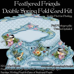 Feathered Friends Double Spring Fold Card Kit