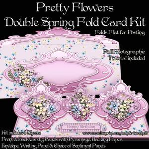 Pretty Flowers Double Spring Fold Card Kit