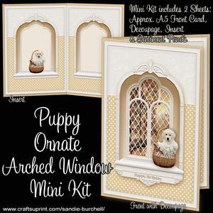 Puppy Ornate Arched Window Mini Kit