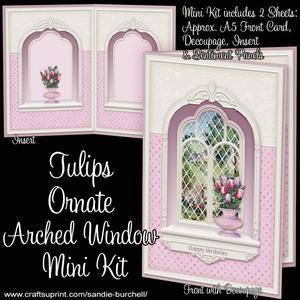 Tulips Ornate Arched Window Mini Kit