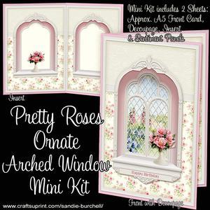Pretty Roses Ornate Arched Window Mini Kit