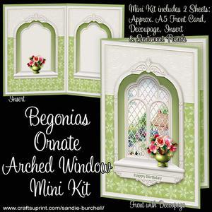 Begonias Ornate Arched Window Mini Kit