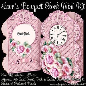 Love's Bouquet Clock Mini Kit