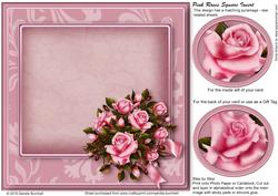 Pink Roses Square Insert