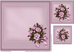 Pretty Lilac Roses Wedding Anniversary Matching Insert