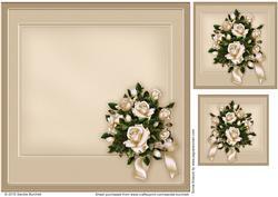 White Roses Anniversary Matching Insert