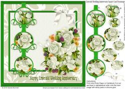 Emerald Wedding Anniversary Square Pyramage