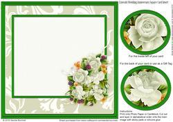 Emerald Wedding Anniversary Square Insert