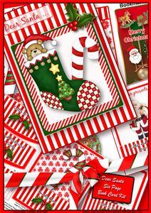 Dear Santa - 6 Page Book Card Christmas Kit
