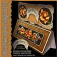 Apricot Roses Top Slot Triangle Card Kit