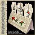 White Christmas Candles Top Slot Triangle Card Kit