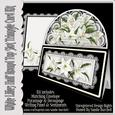 White Lilies Half Round Top Slot Triangle Card Kit