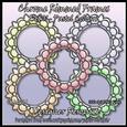 Chrome Rimmed Frames Set 01 - Pastel Colours Designer Resour