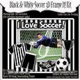 Black & White Soccer Frame It! 3D Frame Kit