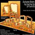 Autumn Roses Zig Zag Pop Up 3D Card Kit