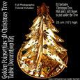 Golden Poinsettias 3D Christmas Tree Kit