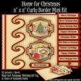 Home for Christmas Curly Border 8 x 8 Mini Kit