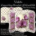 Violets Concertina Bracket 3D Card Kit