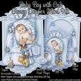 Baby Boy with Crib Fancy Topper Mini Kit