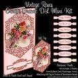 Vintage Roses Ornate Frame Dl Pyramage Mini Kit