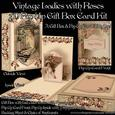 Vintage Ladies with Roses 3D Pop Up Gift Box Card Kit