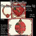 Red Poinsettias Pop Out Christmas Decoration Card Kit