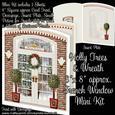 "Holly Trees & Wreath 8"" x 8"" French Window Mini Kit"