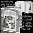 "Blue Christmas Tree & Wreath 8"" x 8"" French Window Mini Kit"