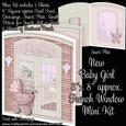 """New Baby Girl 8"""" x 8"""" French Window Mini Kit"""