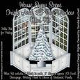 House Snow Scene Triple Arch 3D Bay Window Mini Kit