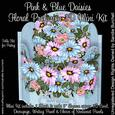 Pink & Blue Daisies Floral Profusion 3D Mini Kit