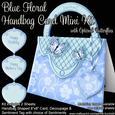 Blue Floral Handbag Card Mini Kit