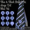 Blue & Black Striped Tie Large Dl Mini Kit
