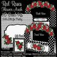 Red Roses Flower Arch 3D Card Kit