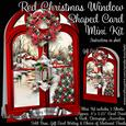 Red Christmas Window Shaped Card Mini Kit