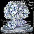 Vase of Blue Roses Shaped Card Mini Kit