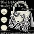 Black & White Damask Handbag Card Mini Kit