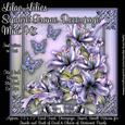 Lilac Lilies Square Frame Decoupage Mini Kit
