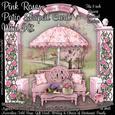 Pink Roses Patio Shaped Card Mini Kit