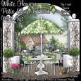 White Flowers Patio Shaped Card Mini Kit