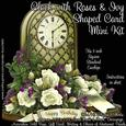 Clock with Roses & Ivy Shaped Card Mini Kit