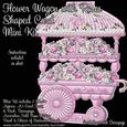 Flower Wagon with Roses Shaped Card Mini Kit