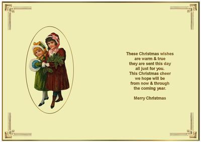 A Christmas Message Insert
